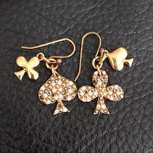 MARC by Marc Jacobs Spade & Clover Gold earrings